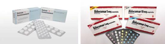 Anticoagulantes orales sintrom alducomar
