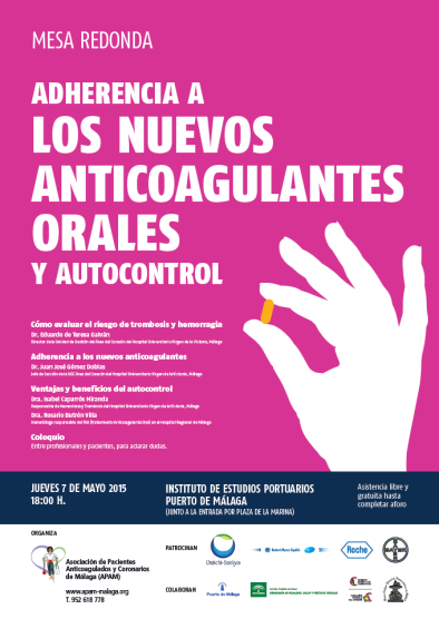 CARTEl ADHERENCIA A LOS NUEVOS ANTICOAGULANTES ORALES Y AUTOCONTROL